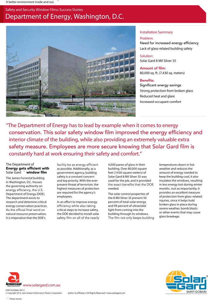 Department of Energy Success Story Safety 0163SSB
