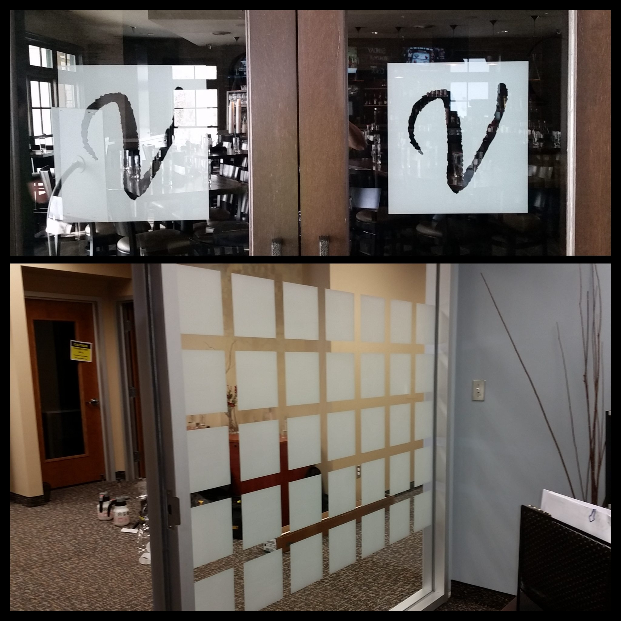 Clear frost window film a decorative privacy solution for Window design solutions