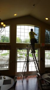 Tint Install high window ladder2